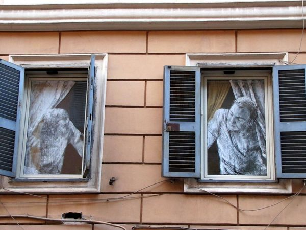 Architecture Building Exterior Built Structure Day No People Outdoors Residential Building Window Moving Around Rome