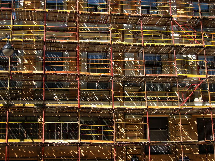 2005 Russia St Petersburg Architecture Close-up Construction Site Day Full Frame No People Outdoors