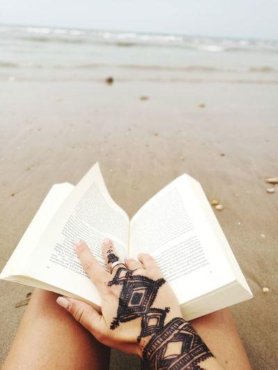 Morroco Henatattoo Book Reading Near Atlantic Atlantic Ocean My Best Travel Photo