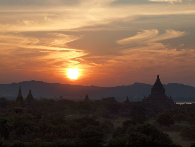 Stunning and magical sunset in Bagan! First Eyeem Photo