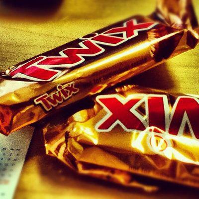 Twix for breakfast....