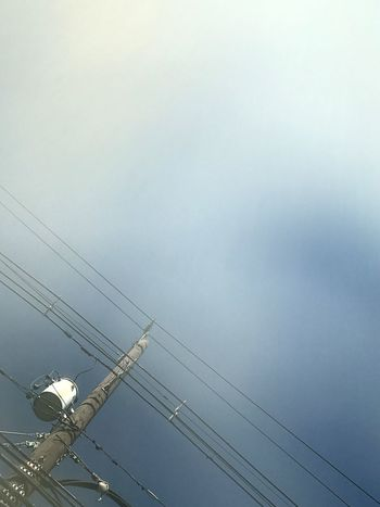 Connection Power Line  Cable Power Supply Low Angle View Electricity  Sky Communication Diagonals Lines And Angles Crooked