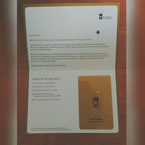 Look What I Got In The Mail Today! Starbucks Goldlevel Whitegirl