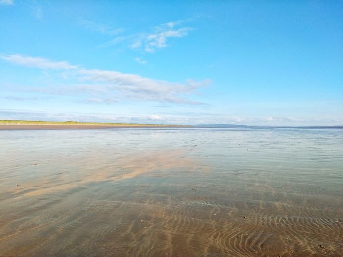 Sea Beach Blue Sky Scenics Tranquility Sand Outdoors Water Day No People Nature Travel Destinations Beauty In Nature Horizon Over Water Tranquil Scene Pastel Colored Low Tide Clear Sky Landscape
