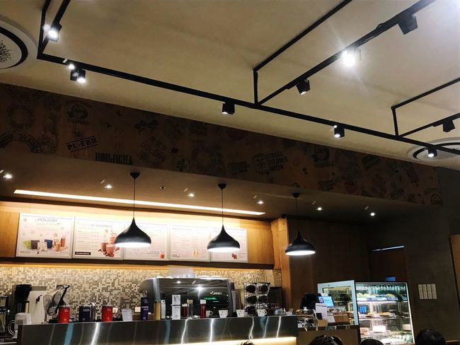 Coffee time Serenity Fudgecake Ice Blended Cafe Illuminated Lighting Equipment Indoors  Retail  Store Ceiling Low Angle View Technology Architecture Hanging Night No People