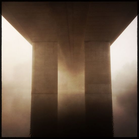 Hipstamatic Observing The World My City Road Bridge Architecture Engineering Fog Nepean River Penrith