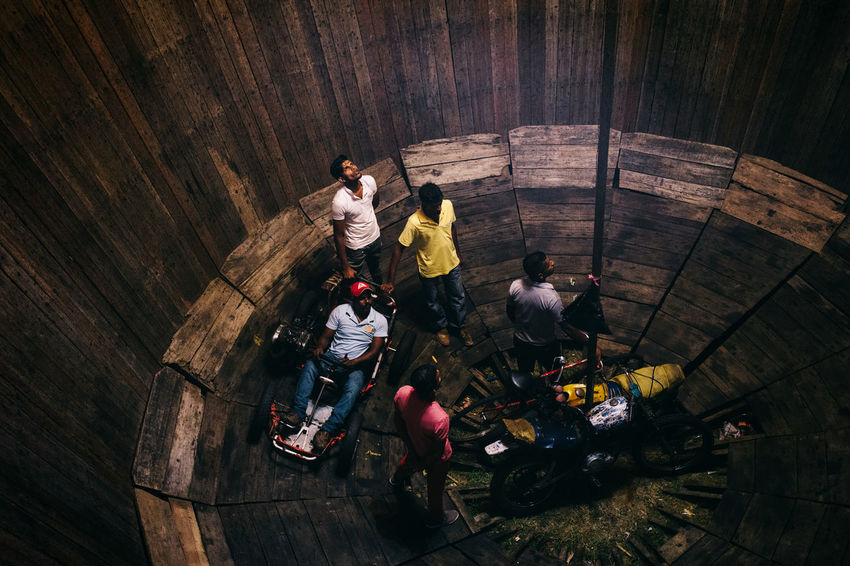 Travel in Sri Lanka Adventure ASIA Day Enjoying Life Exciting Exploration Explore Full Length High Angle View Indoors  Leisure Activity Lifestyles Medium Group Of People Men Real People South Asia Sri Lanka Sri Lankan Togetherness Travel Traveling Women Wood - Material