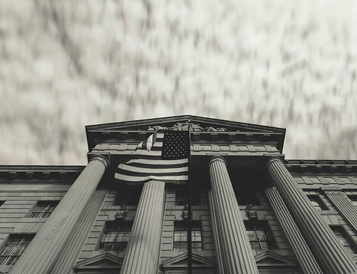 City_explore Washington DC WashingtonDC Architecture USA America Flag Patriotic Bw Bnw Bnw_society Street The Architect - 2017 EyeEm Awards Black And White Friday