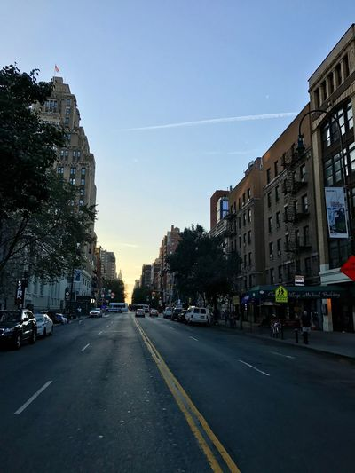 Good morning, NYC! Architecture West Village Clear Sky Transportation Sky City Life Outdoors Battle Of The Cities Modern Urban Skyline