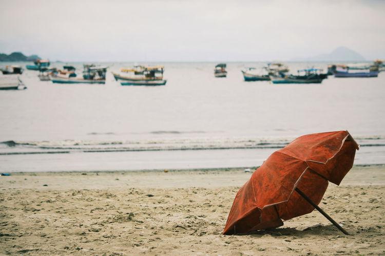 Parasol At Beach