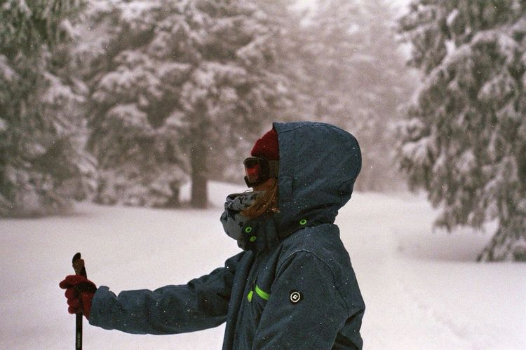 Winter Snow Trees Portrait Analogue Photography Film Photography Filmisnotdead