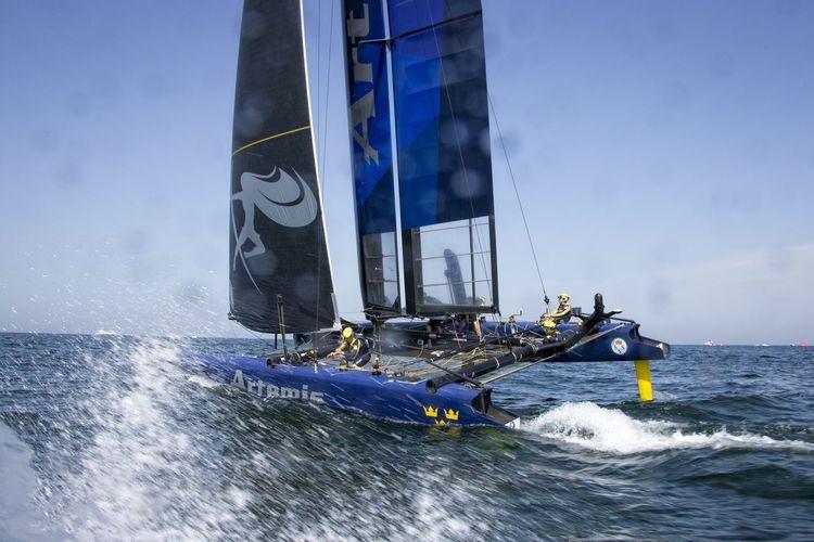 America's Cup World Series Team Artemis Muscat , Oman Visit Oman Louis Vuitton Sailing Sports Photography Sailing Race Waves