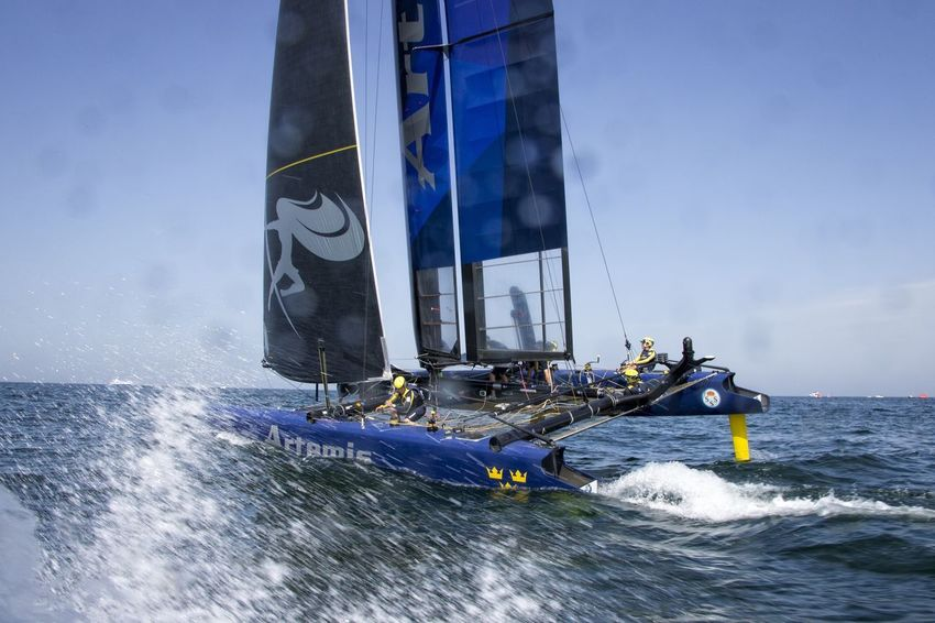America's Cup World Series Team Artemis Muscat , Oman Visit Oman Louis Vuitton Sailing Sports Photography Sailing Race Waves