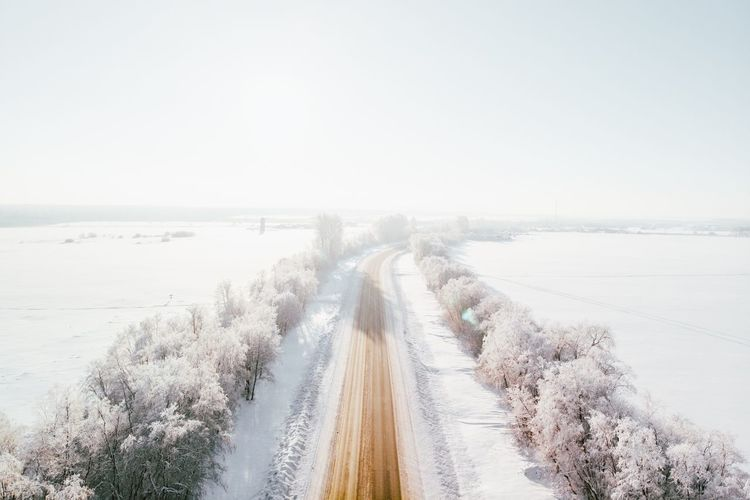 Ski Forest Trip Winter Saint Petersburg Road Sky Copy Space Clear Sky Sea Land Nature Water Day Horizon Beauty In Nature Outdoors No People Winter Power In Nature My Best Photo