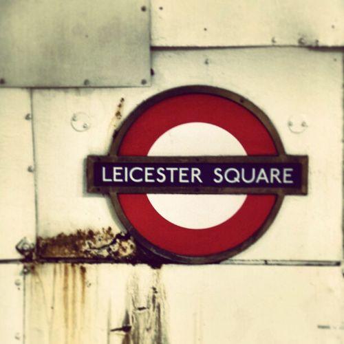 Leaking Old Underground Vintage Blue Rust Red London Tfl Sign Uk Symbol Symbolic  Leicestersquare Waterleak