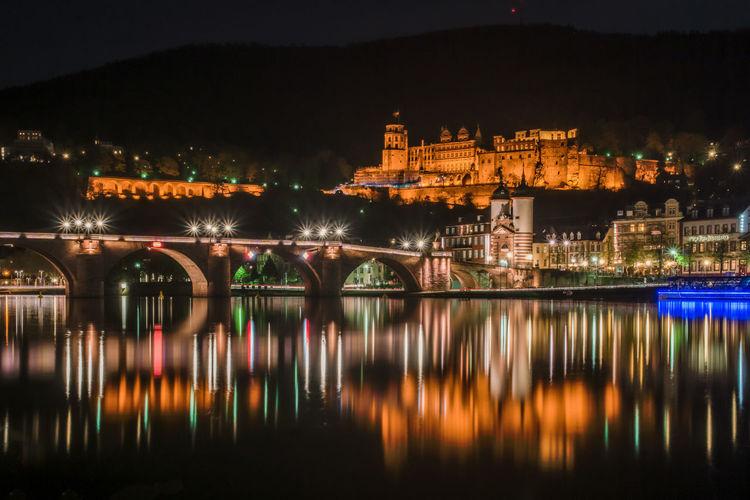 Alte Brücke Heidelberg Fluss HDR Heidelberg, Call It Beautiful Heidelberger Schloss Neckar River Reiisen River Réflexion Water Reflections