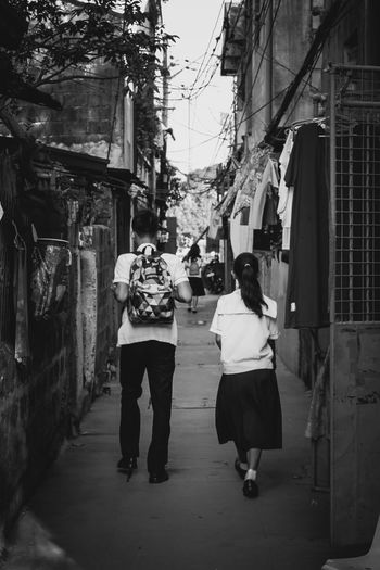 """Great over text, shy face to face"" Love Is In The Air RePicture Love Young Love Teenagers  Boy And Girl Street Photography Black And White Monochrome"