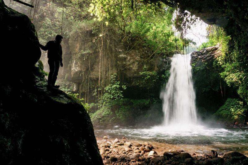 Waterfall around Malang ASIA INDONESIA JIDORI Java Lumajang Malang Nature Air Terjun Art Cinderella Cobán Landscape Nature_collection Scenery Tumpak Sewu Water Waterfall