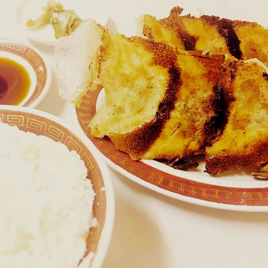 餃子李の焼餃子定食〜 Dumplings Ready-to-eat Food Meal Close-up Chinese Food Lunch Lunch Time! Gourmet Foodporn Foodphotography Yakuin Fukuoka