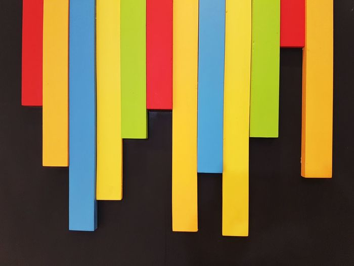 Colorful stripe on black for background Background Colorful Stripes Multi Colored Yellow Close-up