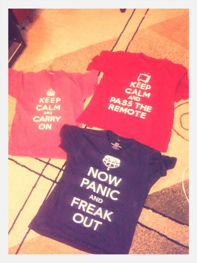 Keep Calm Shirt Collection