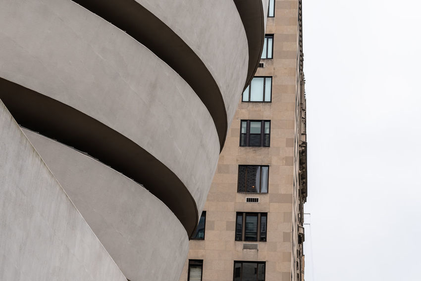 Solomon R. Guggenheim Museum in NYC Architecture No People Built Structure Low Angle View Day Building Exterior Nature Outdoors Building Sky Solomon R. Guggenheim Museum Guggenheim Guggenheim Nyc Frank Lloyd Wright Architecture Frank Lloyd Wright Architecture Manhattan NYC Modern Architecture Window Clear Sky City Shape Residential District Design Copy Space Pattern Sunlight Geometric Shape Luxury Apartment Courtyard
