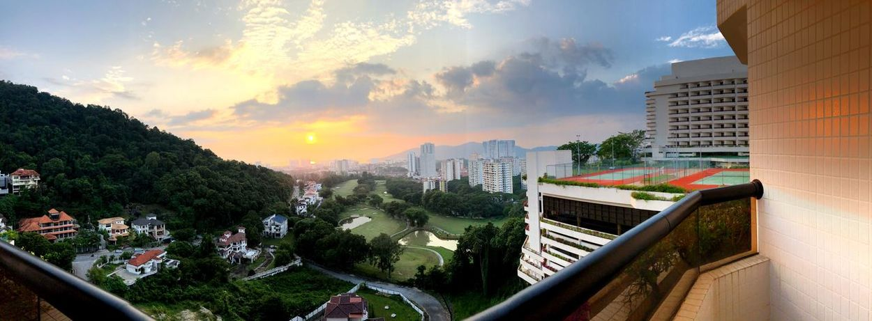Scene in Penang Scenery Shots Panorama Penang Hotel Equatorial Architecture Built Structure Building Exterior Sky Cloud - Sky City Plant Building Sunset Nature Be Brave Be Brave EyeEmNewHere