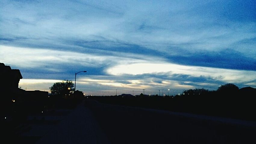 Hanging Out Taking Photos Check This Out Relaxing Enjoying Life Shot With A Smartphone Camera Arizona Life! Simply Beautiful Sunset And Clouds  Shades Of Blue This Week On Eyeem Nature Photography