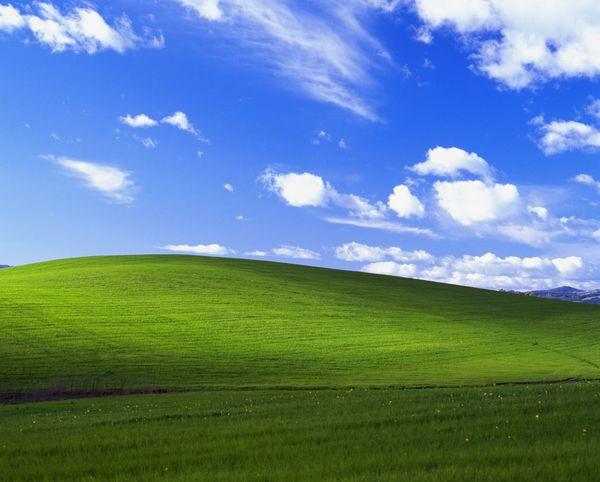 Windows XP USA Bliss 玩了幾十年電腦才知道原來這是張照片wow