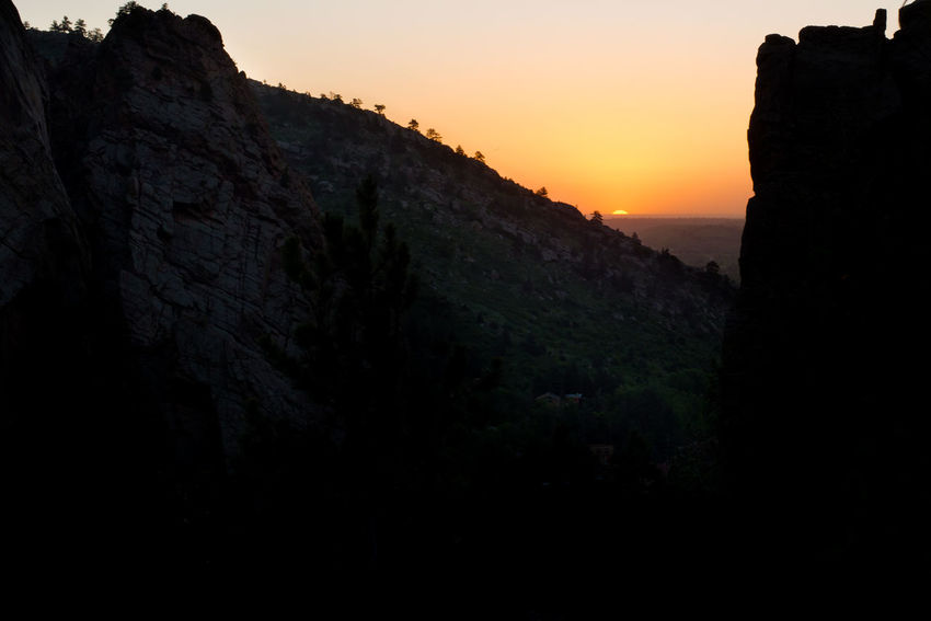 Sunrise over Boulder, Colorado. Colorado Colorado Photography Sunrise Silhouette Beauty In Nature Colorado Sunrise Early Morning Eldorado Canyon Landscape Mountain Mountain Sunrise Nature Outdoors Rock Formation Scenics Silhouette Sky Sunrise Sunrise_sunsets_aroundworld Tranquil Scene