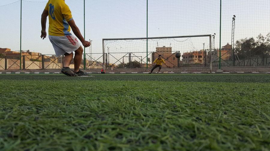 Penalty... Playground Soccer Football Ball Green Goal Keeper Shoot Penalty Soccer Field
