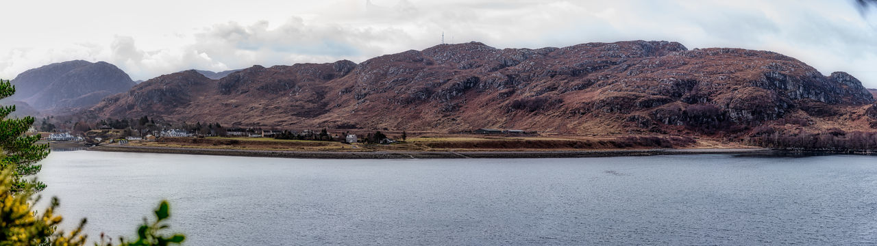 Communications Tower Photo Merge Photography Scotland 💕 Sea Loch View From Inverewe Garden Buildings Day Heather Hillside Man Made Structures Mountain No People Poolewe Loch Ewe Geology Natural Landmark Physical Geography