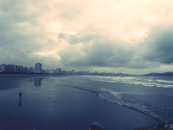 Santos Landscape Eyemphotography EyeEm Gallery Sky Seaside Sea And Sky Clouds And Sky Brazil Grey Sky Grey