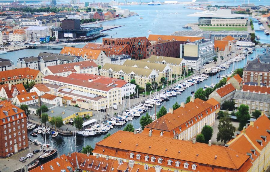 Copenhagen Architecture Building Exterior City Built Structure High Angle View Building Cityscape Residential District Roof Aerial View Day Travel Destinations City Life