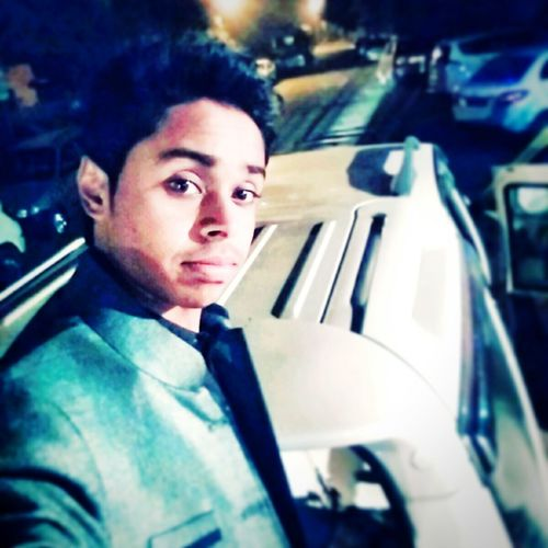 Selfie Time! Car Only Me In The Night