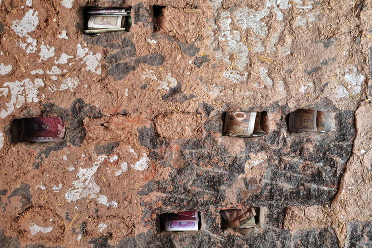 Full frame shot of old weathered wall