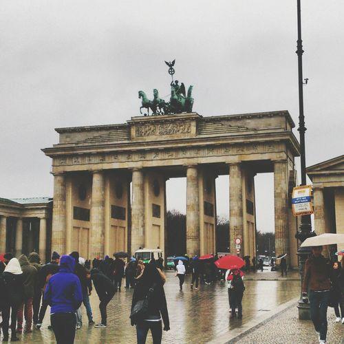 Allemagne - avril 2013 Berlin Architecture Branderburgertor Travel