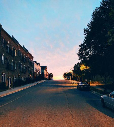 The Way Forward Car Road Cloud - Sky No People