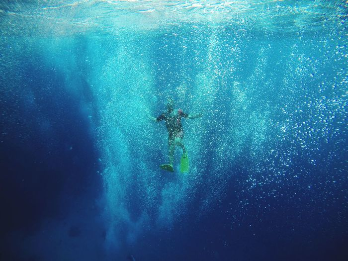 Red sea Egypt UnderSea Scuba Diving Water Swimming Underwater Adventure Blue Sea Full Length