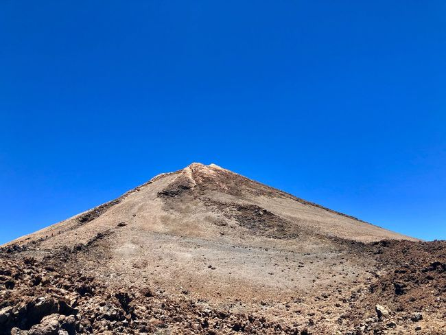 Teide Teide National Park Teide Volcano EyeEm Selects Sky Clear Sky Nature Blue Low Angle View No People Scenics - Nature History Land Sunlight Travel Destinations Building Exterior Architecture Travel Pyramid Copy Space Outdoors Day Built Structure The Past