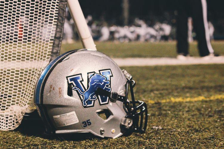 EyeEm Selects Helmet Helmets Football Football Field Football Helmet Lion Logo Lions Friday Night Lights High School High School Sports High School Football High School Memories