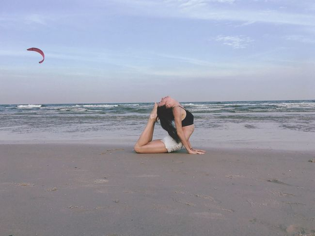 Beach Sky Sand Thailandtravel Travel Yogalover Yogatime Yoga Pose Yogaphotography Yoga ॐ Yoga Practice Yogaeveryday Yogaeverywhere Yogainspiration Yogalove Yoga The Gulf Of Thailand Vacations