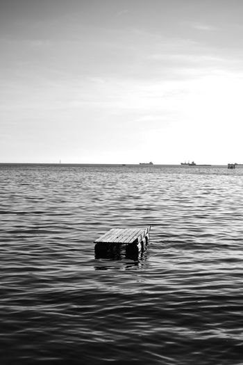 Floating Losari Beach Losari Blackandwhite Bnw Streetphoto_bw Streetphotography Eyeem Makassar EyeEm Indonesia D750 Snapseed Vscocam Miles Away