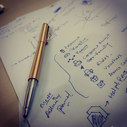 Raw idea on paper Parker Pen Paperwork Raw Handwriting  Old-fashioned Fountain Pen Antique No People Paper Nib Formula Day