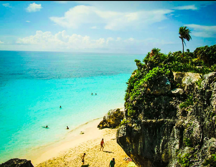 Tulummexico Beach Photography High Altitude Turquoise Water Up High Looking Down Up High Beachview Beautiful Beaches Oceanview Rocky Cliffs Amazing Views What A View Salt Life Aquascape Sightseeing Beach Day Peace And Quiet Enjoying Life Showcase March