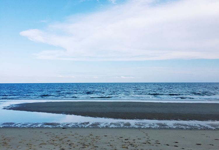 Beach Sea Sky Sand ebb tide Wave