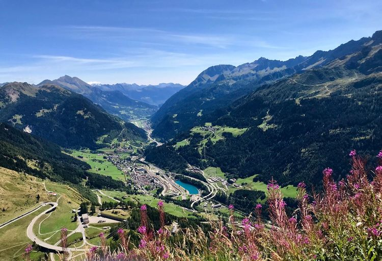 Ticino Leventina Mountain Gotthard Mountain Mountain Range Scenics - Nature Beauty In Nature Plant Tranquil Scene Tree Environment Landscape Sky Tranquility Nature Valley