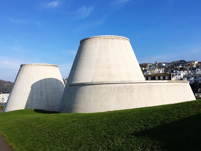 Ilfracombe's Landmark Theatre is a great example of shape and design sitting amongst colour and nature Architecture Sky Built Structure Day Nature Building Exterior Fuel And Power Generation Low Angle View Sunlight Clear Sky Travel Destinations