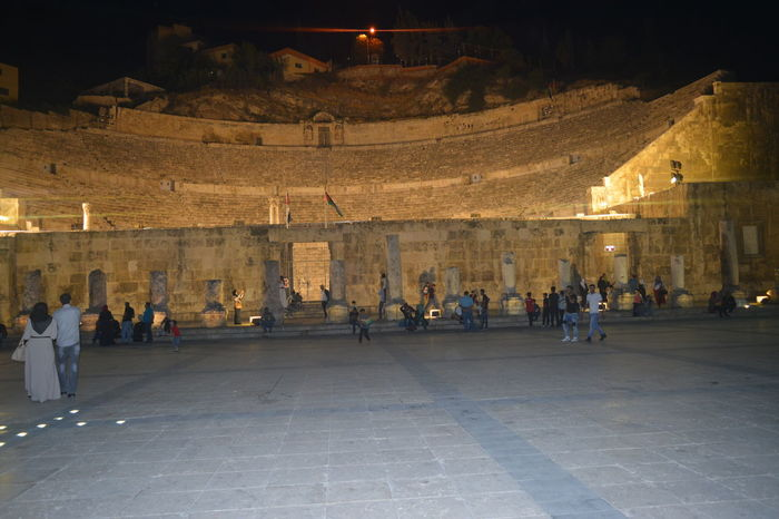 Amman Jordan Nightphotography Roman Amphitheater الاردن عمان