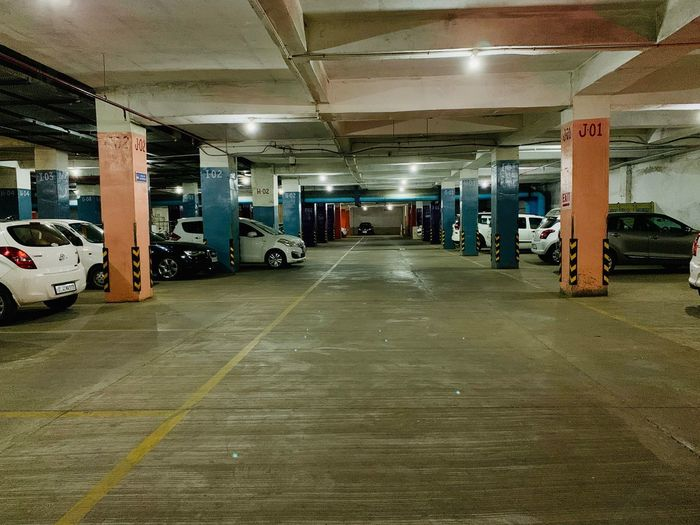 Car parking Architecture Built Structure Transportation Illuminated The Way Forward Direction Ceiling Mode Of Transportation Indoors  Motor Vehicle Parking Lot Car No People Parking Architectural Column